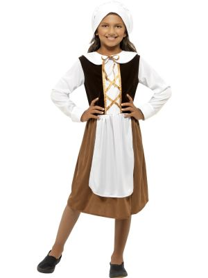 Tudor Girls Costume | Girls' Fancy Dress